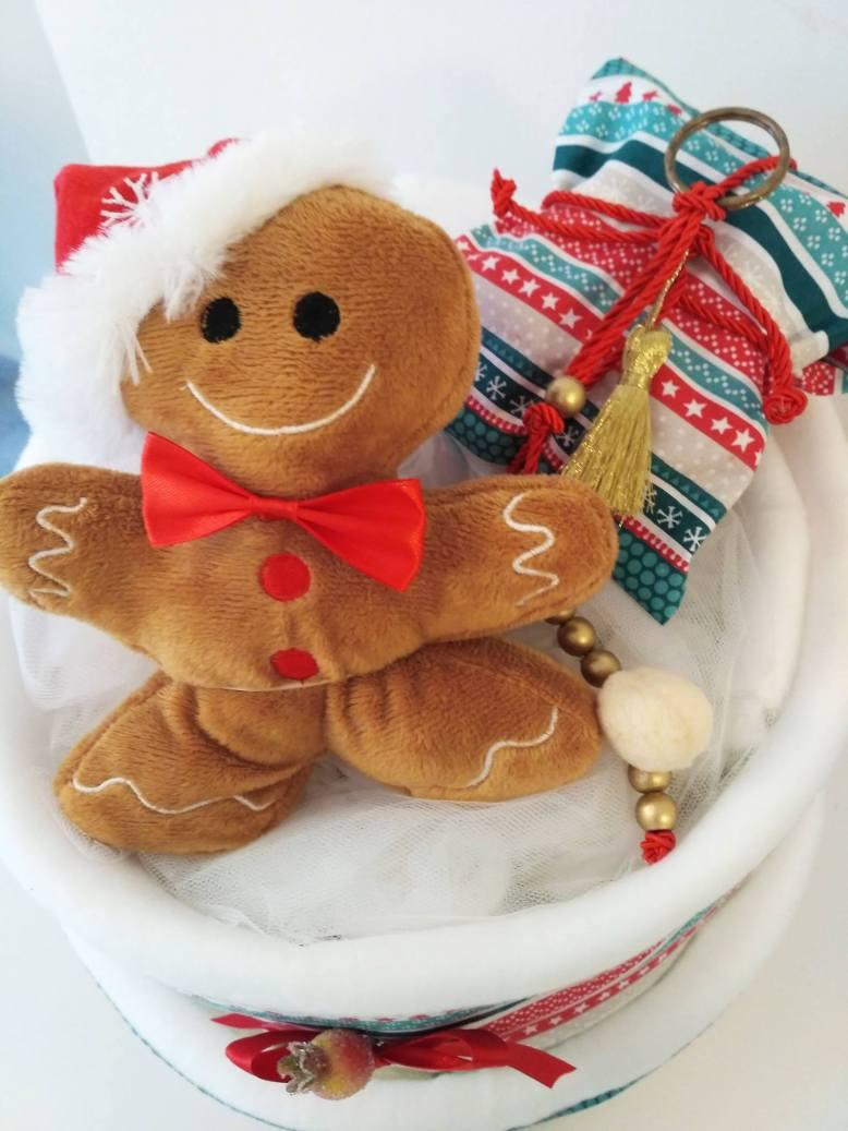 Christmas diapercake